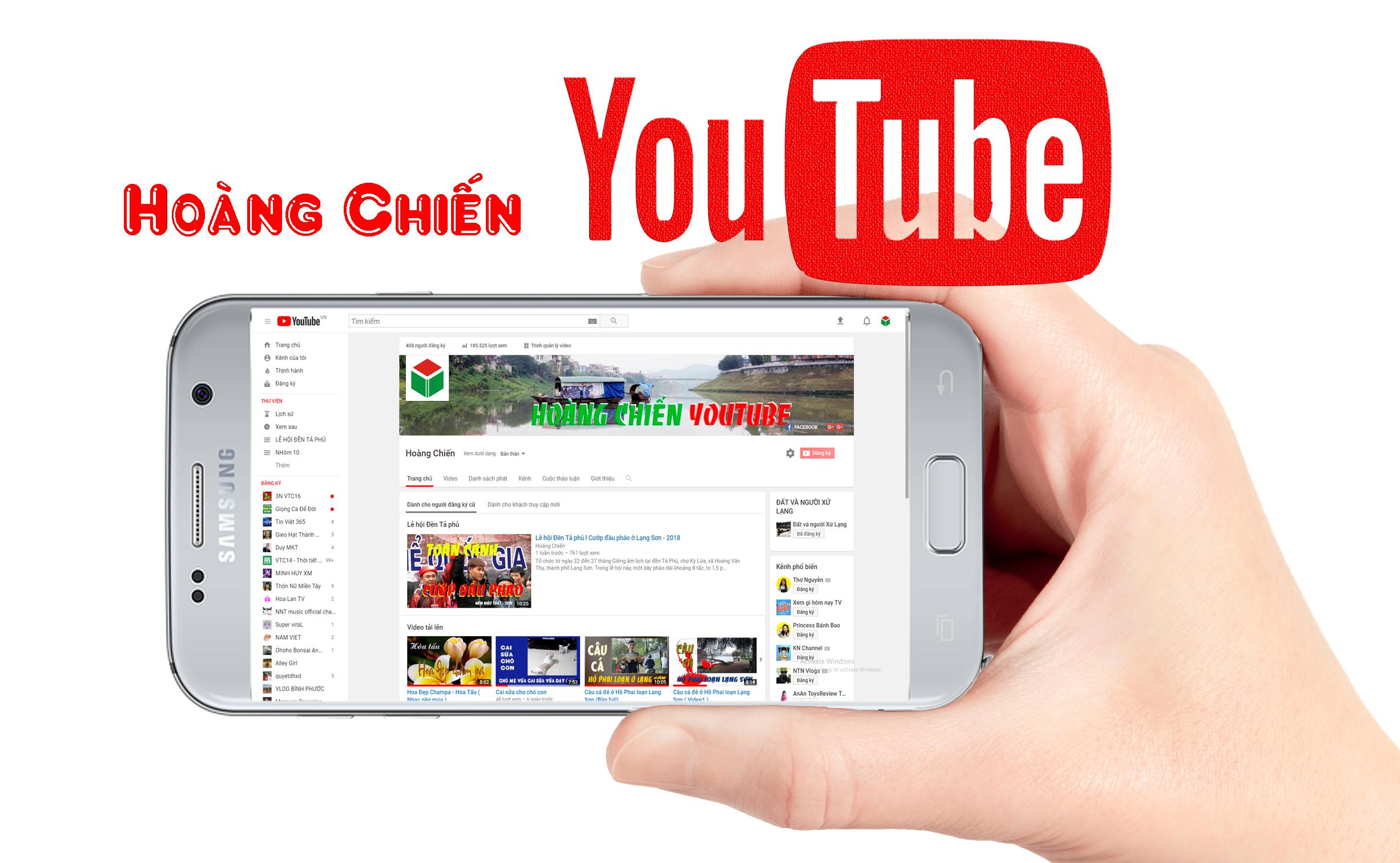 Tạo kênh Youtube bằng điện thoại thông minh.